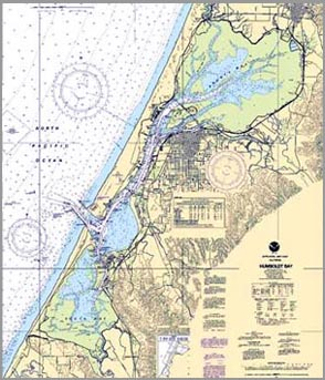 Humboldt Bay Nautical Chart.