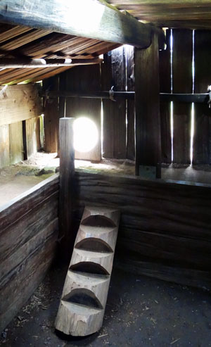 Interior of a Yurok Lodge. Photo by Paul McHugh.