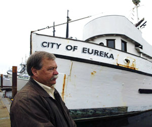 Richard Young, harbormaster at Crescent City. Photo by Michael Maloney, S.F. Chronicle.