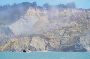 Tectonic uplift created mighty cliffs near the Mendocino Triple Junction. Photo by John Weed.