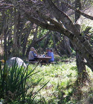 Locals from the area drop by our camp for a visit. Photo by Michael Maloney, S.F. Chronicle.