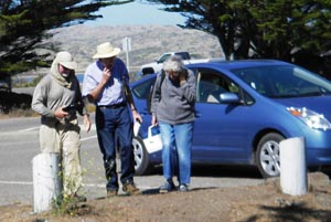Environmental crusaders Bill and Lucy Kortum arrive at Bodega Head.. Photo by Michael Maloney, S.F. Chronicle.