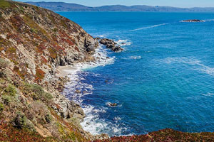 The ocean side of Bodega Head, southern anchor of the 17 mile-long Sonoma Coast State park.