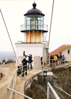 Close-up view of Point Bonita's light from the land side. Photo by Paul McHugh.