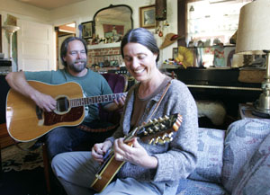 Mayor Dahlhoff and husband Eric make lovely music together at their home in Point Arena.
