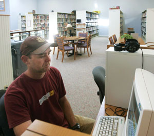 The new, volunteer-run Point Arena library is a major hang-out for both youth and adults.