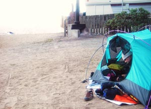 My little home away from home. On the beach at Anchor Bay. . Photo by John Weed.