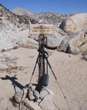 Signpost on the path less traveled.